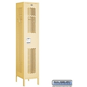"Extra Wide Vented Locker - Single Tier - 1 Locker Wide - 6' High - 15"" Deep"