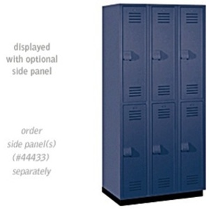 "Double Tier Heavy Duty Plastic Locker - 3 Lockers Wide - 6' High - 18"" Deep"