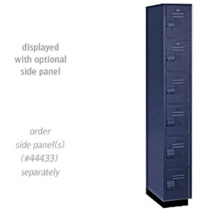 "Six Tier Box Style Heavy Duty Plastic Locker - 1 Locker Wide - 6' High - 18"" Deep"