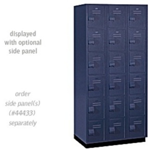 "Six Tier Box Style Heavy Duty Plastic Locker - 3 Lockers Wide - 6' High - 18"" Deep"
