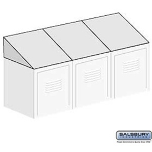 Sloping Hood - for up to (3) Lockers