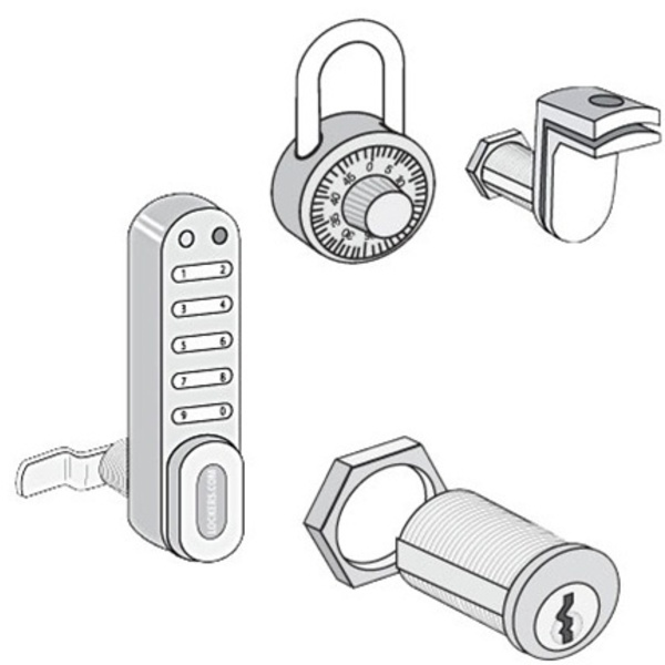 Locks & Keys for Solid Oak Executive Locker