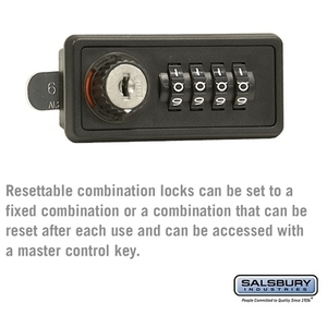 Resettable Combination Lock - Replacement Lock - for Cell Phone Storage Locker Door