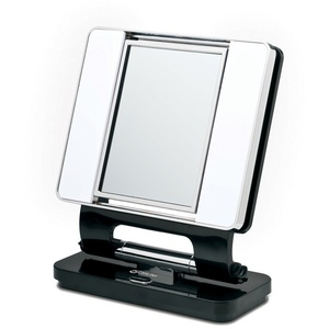 Black Dual Sided Make-Up Mirror (B92G53)