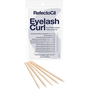 RefectoCil Eyelash Curl - Refill - Application Rosewood Sticks 5 per Pouch - For RefectoCil's Lash Perm Treatments! (US-RC 5506)