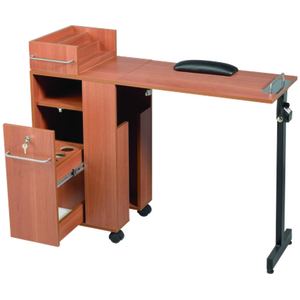 Folding Manicure Table - Wood Laminate Finish (2009WD)