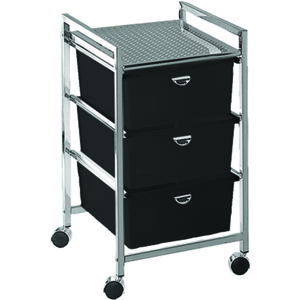 Pedicure Cart with 3 Drawers - Metal Frame (D23)