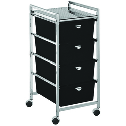 Utility Cart with 4 Drawers - Metal Frame (D24)