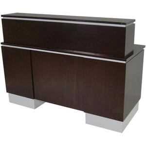 "Neo Gamma Reception Desk 66""L x 32""W x 50""H 50+ Color Choices Made to Order - Ships in 2-3 Weeks (4417-60)"