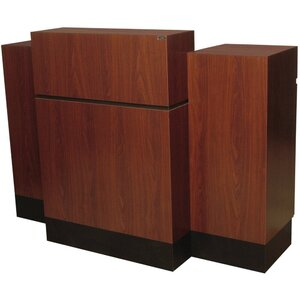 "Reve Sitting Reception Desk 66""L x 32""W x 52""H 50+ Color Choices Made to Order - Ships in 2-3 Weeks (492-60)"