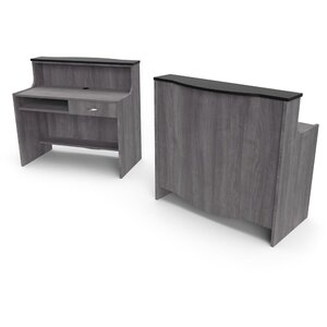 "Cameo Reception Desk 54""L x 32""W x 50""H 50+ Color Choices Made to Order - Ships in 2-3 Weeks (3346-45)"