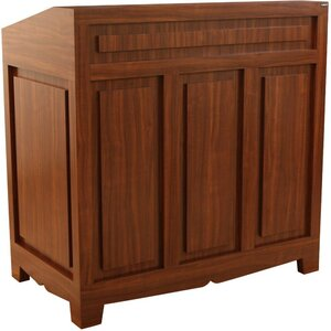 "Bradford Concierge Reception Desk 42""W x 24""D x 36""H x 42""H 50 Color Choices Made to Order - Ships in 8-9 Weeks (885-42)"