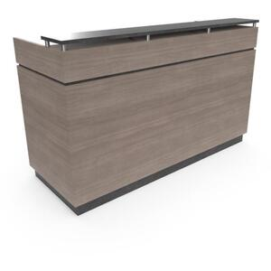 "St. James Reception Desk 72""W x 36""D x 36""H x 45""H 50 Color Choices Made to Order - Ships in 8-9 Weeks (111203)"