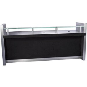 "LOX 8' Reception Desk 96""W x 33""D x 34""H x 44""H 50 Color Choices Made to Order - Ships in 8-9 Weeks (6679-96)"
