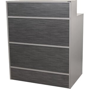 "Edge Standing Reception Desk 36""W x 24""D x 44""H 50 Color Choices Made to Order - Ships in 8-9 Weeks (6627-36)"