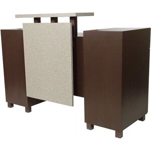 "Amati Amico Reception Desk 60""W x 26""D x 44""H 50 Color Choices Made to Order - Ships in 8-9 Weeks (930-60)"