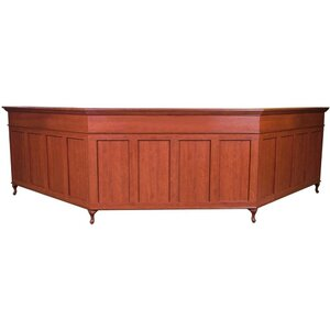 "Bradford Double Reception Desk 72""W x 68""W x 72""W x 46""H 50 Color Choices Made to Order - Ships in 8-9 Weeks (807-212)"