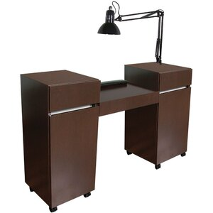 "Reve Twin Manicure Table 56""W x 16""D x 30""H x 36""H 50+ Color Choices Made to Order - Ships in 2-3 Weeks (484-57)"