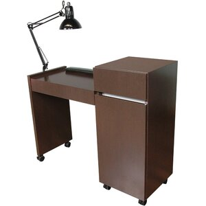 "Reve Manicure Table 42""W x 16""D x 30""H x 36""H 50+ Color Choices Made to Order - Ships in 2-3 Weeks (483-42)"