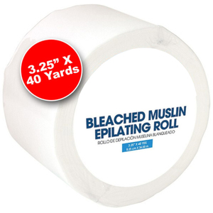 "Bleached Muslin Epilating Roll 3.25"" X 40 Yards (100145)"
