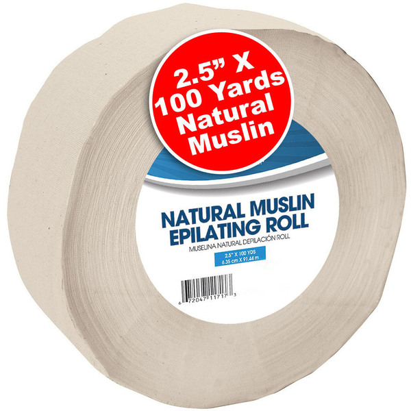 "Natural Muslin Epilating Roll - 2.5"" x 100 Yards (100213)"
