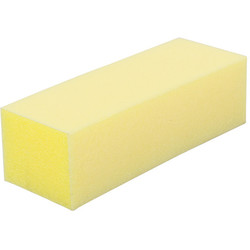 "Yellow Pedicure Block - 3-Way Block - 220 Grit - 1""H x 1.25""W x 3.5""L 15 Count (100453)"
