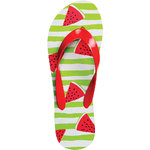 ISLAND Flip-Flops - Watermelon Wedges Women's Size 8 (100760)