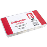 Evolution Nail Tips 360 Count Tray (36 Each Size 1-10) (100962)