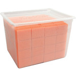 "Pre-Cut Mini Block - White on Orange - 100180 Grit - 1""L x 1""W x 0.5""H 128 Count (104715)"