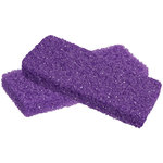 "Mini Pumice Pads - Purple - 3""L x 1.3""W x 0.5""H 400 per Box X 4 Boxes = 1600 Mini Pumice Pads (104725)"