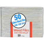 "Zebra Wood File - 100180 Grit - 5"" Long 50 Count per Pack X 50 Packs = 2500 Files (104734)"