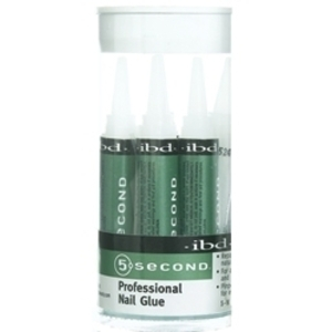 IBD 5 Second Nail Glue 2 Grams 5 Pack (105010)