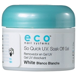 STAR NAIL Eco So Quick UV Soak Off Gel White 1 oz. (106113)