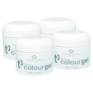 STAR NAIL T3 European Colour Gel Pack 4-pk.