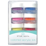 STAR NAIL Colored Acrylic Kit 8 Piece