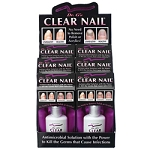 DR. G'S Clear Nail Retail Display 6 Clear Nail 0.6 oz. plus Counter Display (107011)