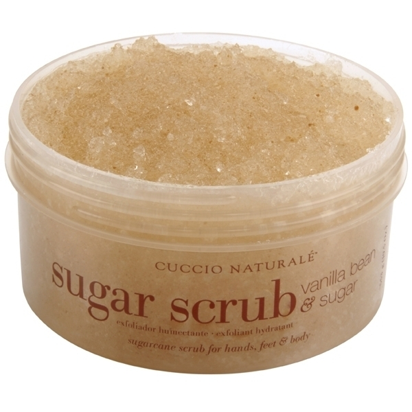 Cuccio Naturale Sugarcane Vanilla Bean & Sugar Scrub for Hands Feet & Body 19.5 oz. (109910)