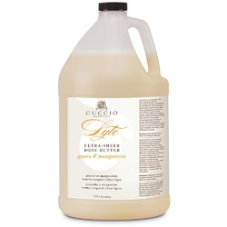 Cuccio Naturale Lyte Ultra-Sheer Body Butter - Guava & Mangosteen 1 Gallon (109935)