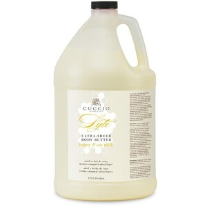 Cuccio Naturale Lyte Ultra-Sheer Body Butter - Honey & Soy Milk 1 Gallon (109937)