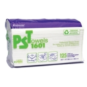"GRAHAM PROFESSIONAL PST 1601 Towels 24 12"" x 12 / Case of 8 Packs"