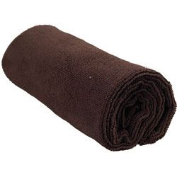"ANDRE Softee Microfiber Chocolate Towel 29""L x 1"