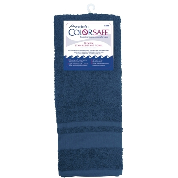 "André Colorsafe Towels - Navy - 16"" x 29"" 6 Count (110278)"