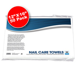 "Disposable Nail Care Towels White 12"" x 16"" 50 Count (110323)"