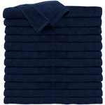 "Premium 100% Cotton All-Purpose Towels - Navy Blue - 16"" W x 27"" L 24 Count (110551)"