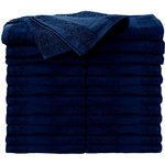 "Premium Bleach Tough Salon Towels - Navy Blue - 16"" W x 27"" L 24 Count (110552)"