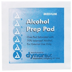 DYNAREX Alcohol Prep Pads 200 Count (110700)