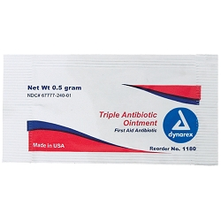 Dynarex Triple Antibiotic Ointment 0.5 Gram Packettes 144 Count (110728)