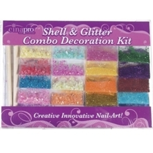 CINAPRO NAIL CREATIONS Shell & Glitter Decoration