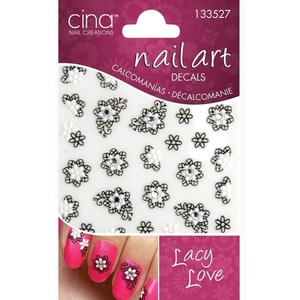 Cinapro Nail Creations Nail Art Decals Lacey Love (134129)