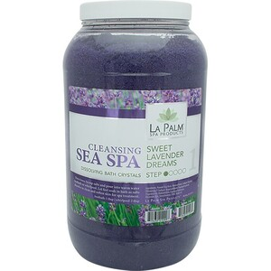 La Palm Products Sweet Lavender Dreams Cleansing Sea Spa Salts 1 Gallon (140093)